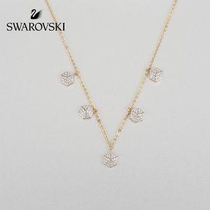 Swarovski Lisabel Choker, White, Gold-Tone Plated